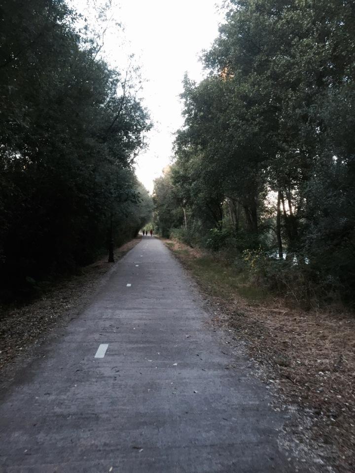Cycle path next to river, Plasencia