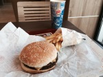 Break in Burger King - air con and burger very good