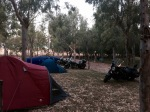 Morning at Merida Camping - lots of motorbikes
