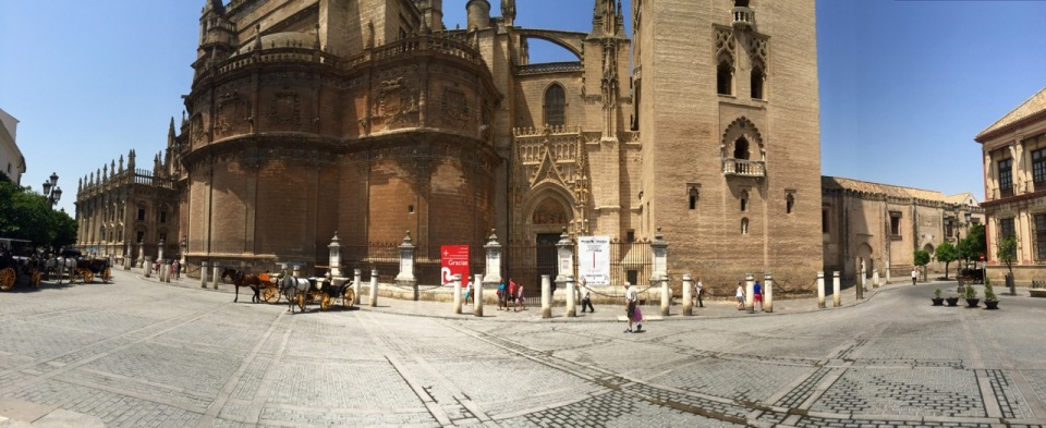 Seville Cathedral panorama