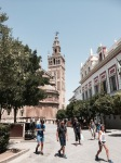 Looking from Alcazar to Cathedral, Seville