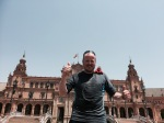 Plaza De Espana - me and Lobster also enjoyed a refreshing fountain experience