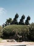 Galloping horses statue, Jerez