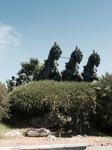 Galloping horses statue, Jerez