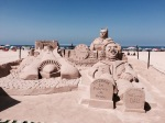 Batman sand sculptures, Cadiz