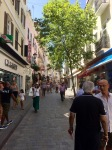 Main shopping street in Gibraltar
