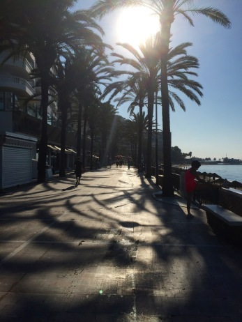 Marbella - handy Via Verde along coast