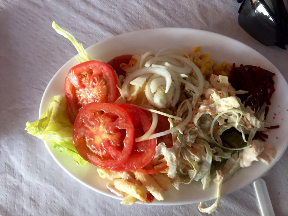 All you can eat salad bar, brilliant!