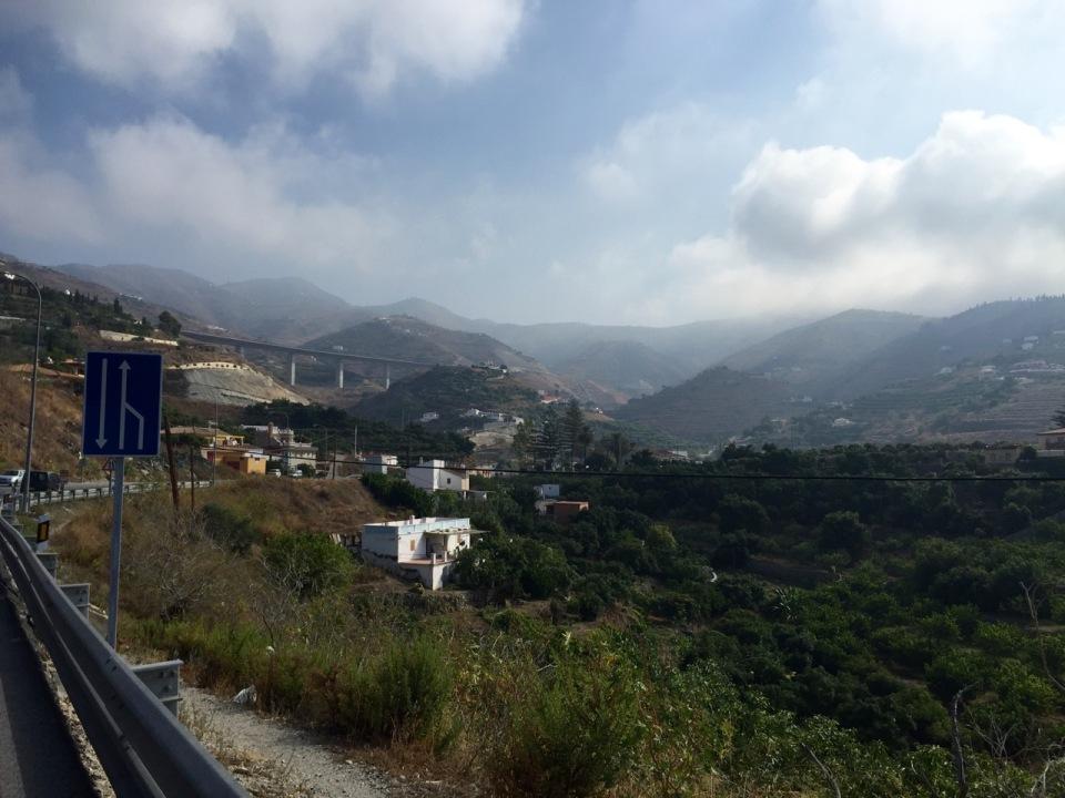 Approaching Almuñécar
