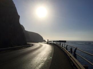 Following the coast road