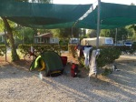 Set up at Cuevas Mar camping, Palomares