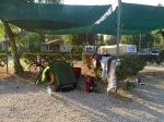Set up at Cuevas Mar camping, Palomares