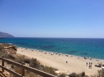 Popular beach near Mazarron