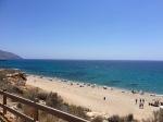 Popular beach near Mazarron