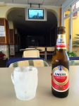 Cold ceveza and watching the end of TDF 2015