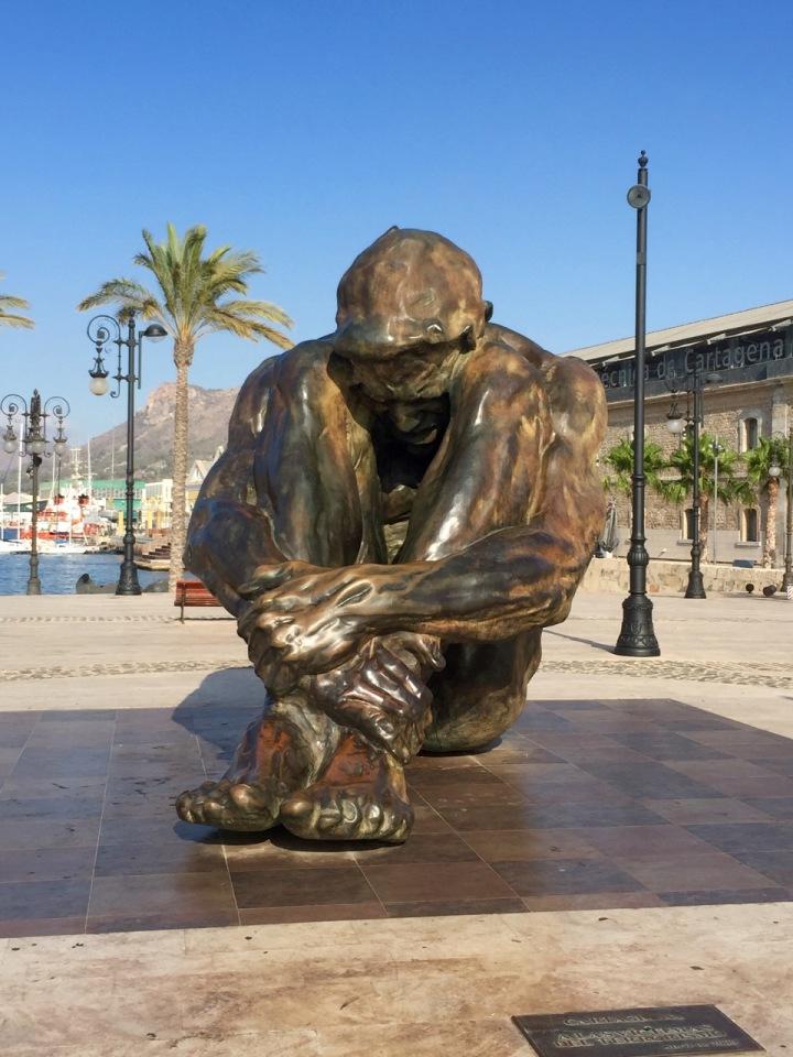 Statue commemorating victims of terrorism, Cartagena