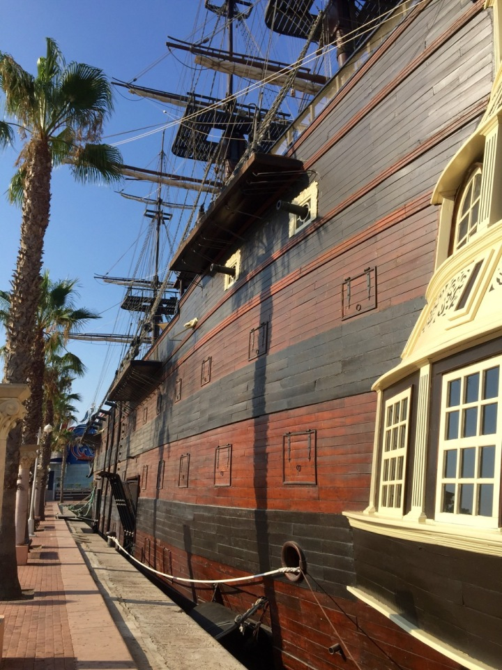 Big old looking ship in Alicante - think it's just replica and used as as restaurant