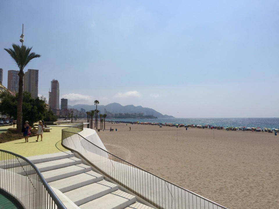 A view of Benidorm waterfront