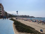 Benidorm beach packed