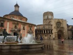 Valencia fountain and Church