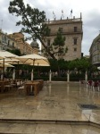 Valencia - cafes somewhat deserted due to weather