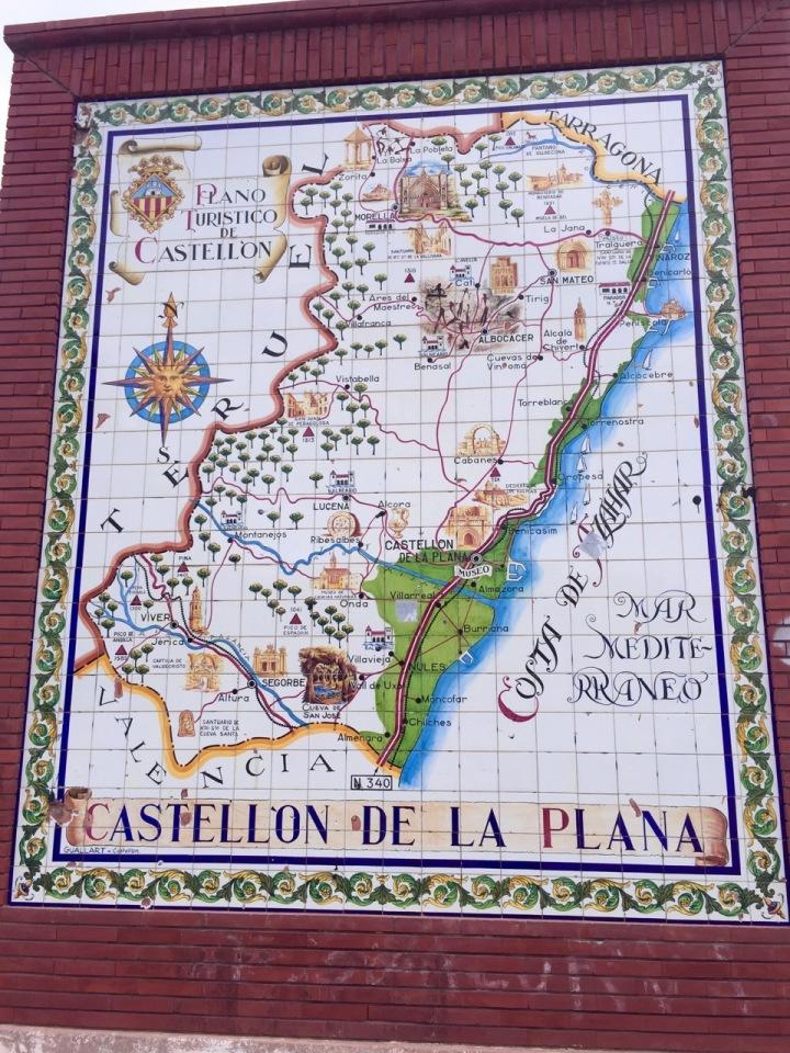 The tourist area of Castillon de la Plana