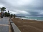 Stormy coastline near Benicassim