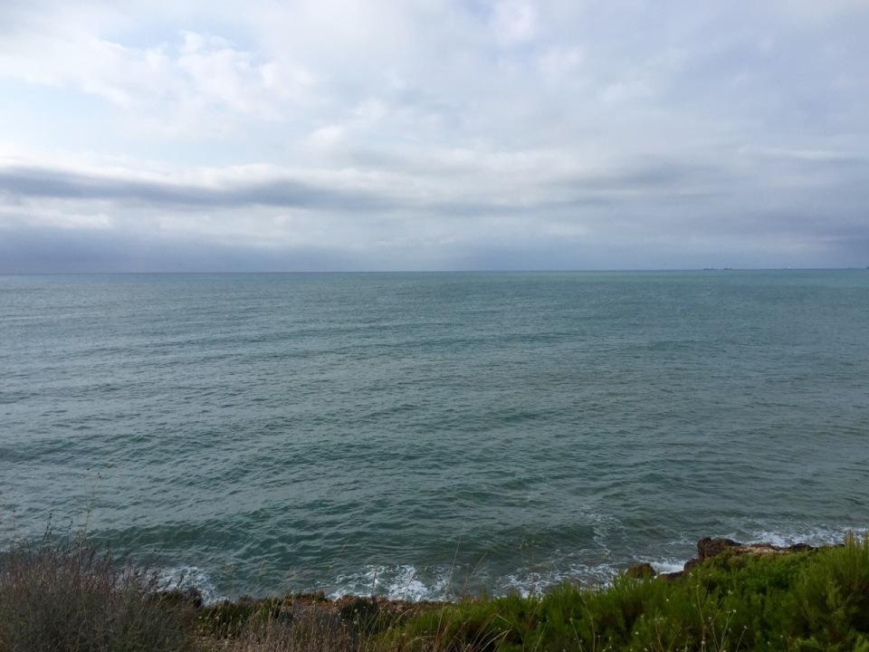 Fresh riding alongside the sea to Orpesa