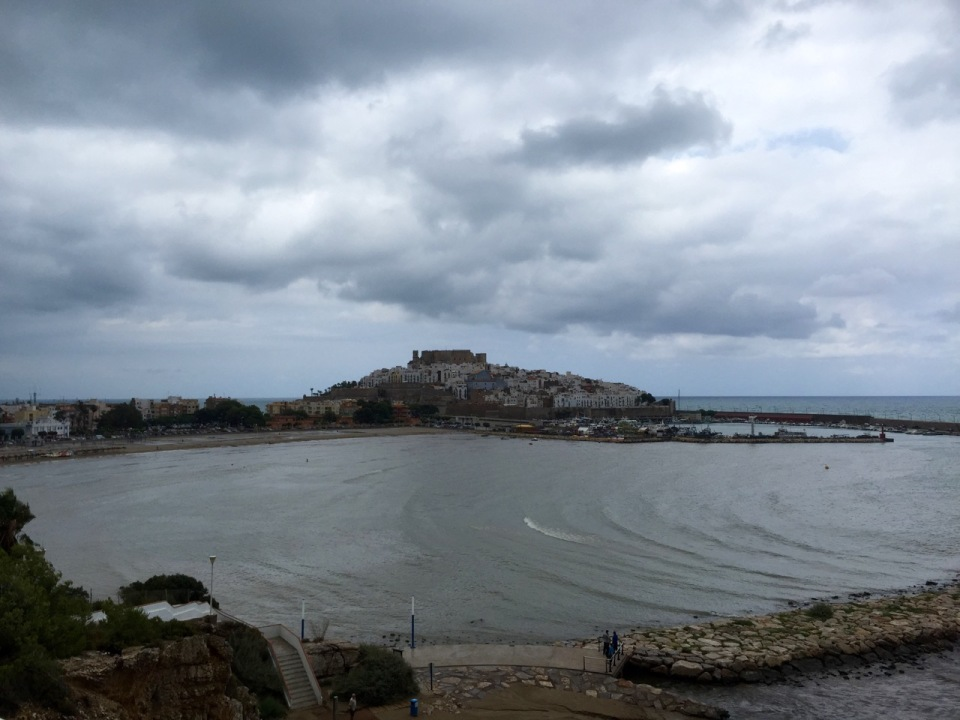 Peniscola - old town and castle on peninsula