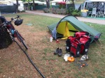 Tent pitch with grass, in St Carles de la Rapita