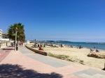 Cycling alongside the beach, Vilafortuny