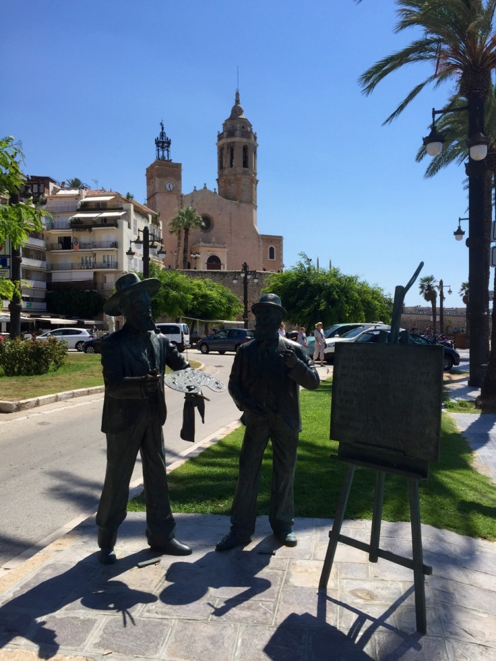 Church and statues, Sitges