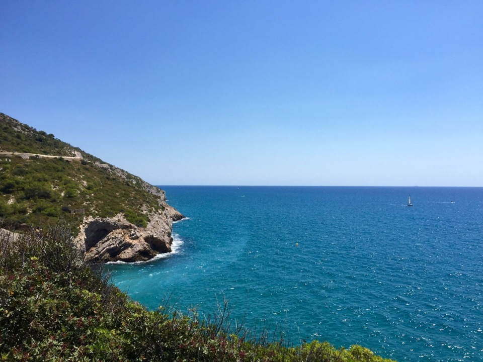 Following the coastal road from Sitges