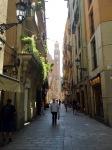 Walking narrow streets to hostel