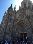 Barcelona cathedral entrance