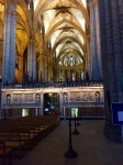 Inside Barcelona cathedral