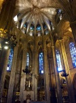 High vaulted ceiling, Barcelona cathedral