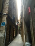 Some of the streets are very narrow, buildings seem to almost touch