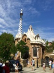 Parc Guell entrance - looks like a fairy tale cottage (and blobby)