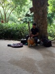 Talented busker in Park Guell
