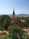 View from middle of Park Guell
