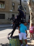 Alien street performer 1