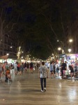 La Ramblas at night