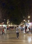 La Ramblas at night