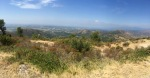 Panorama view back the way I pedalled