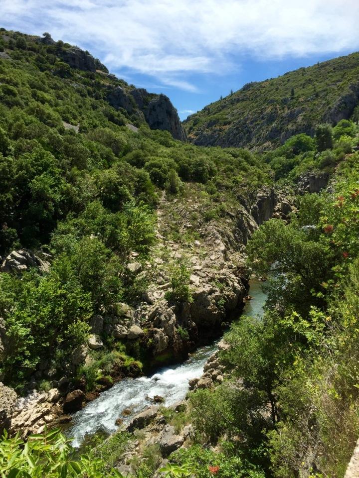 River Herault running through gorge