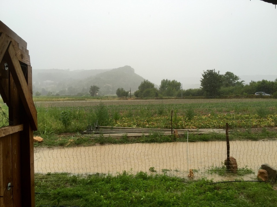 Stormy weather - it rained, a lot