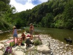 Picnic by the river in Labeaume