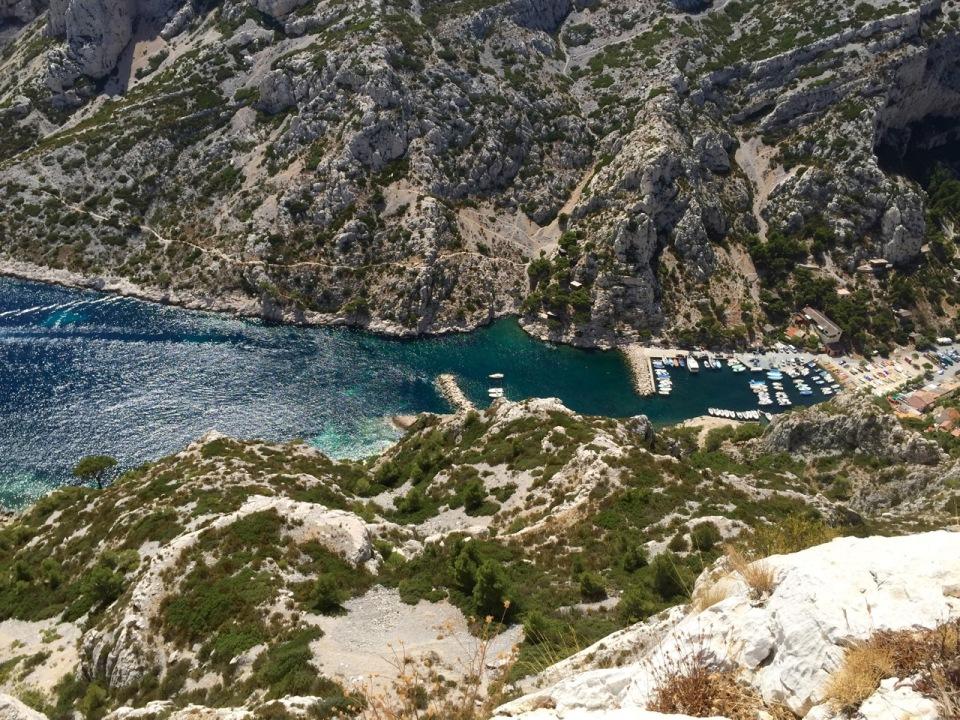 Callanques - view down to harbour, Morgiou