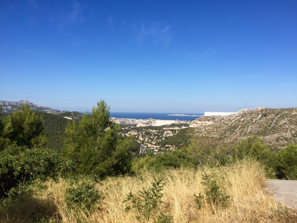View back to Marseille from Les Calanques